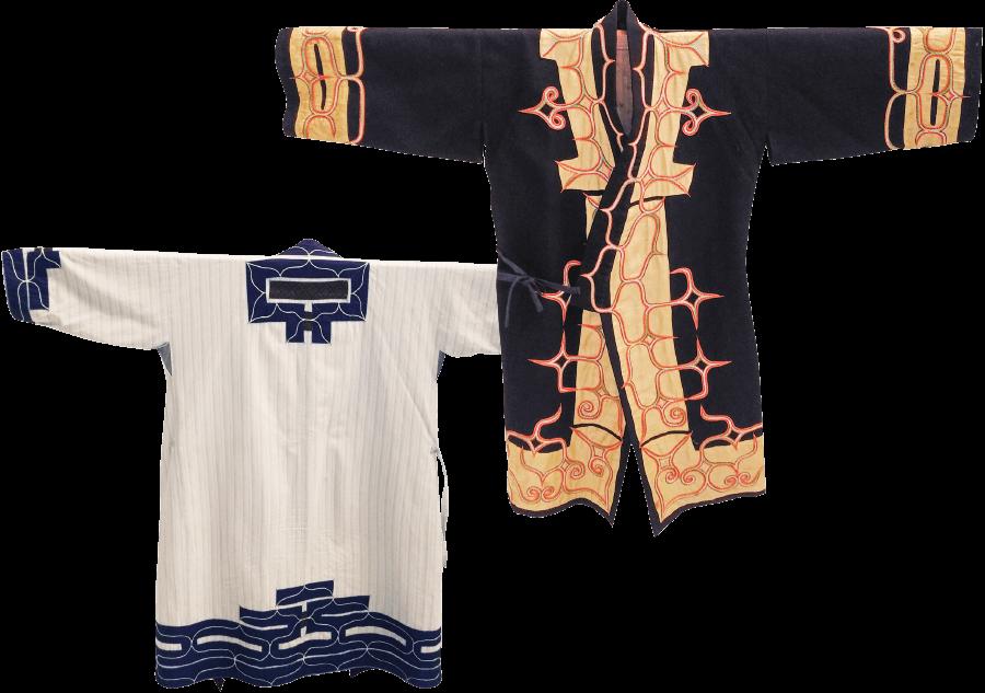 ルウンペ文様の木綿衣